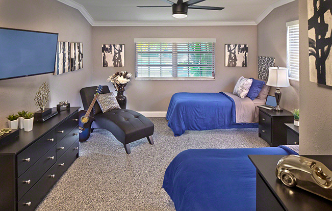 Bedroom at The Siebold Sober Living House in Delray Beach